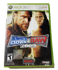 WWE SmackDown vs RAW 2009 Microsoft Xbox 360 Complete Manual and Game Disc