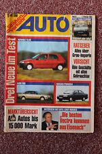 Auto Der deutsche Strassenverkehr 3/1991 Test Yugo Florida,Renault Clio,Audi 100