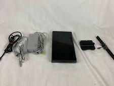 Nintendo Wii U 32GB Black Console WUP-101 Bundle (No Gamepad)