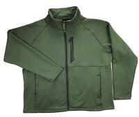 Cabelas Mens 2XL Green Fleece Full Zip Mock Neck Jacket
