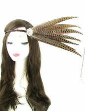 Native american red indian feather coiffure bandeau noir marron festival 525