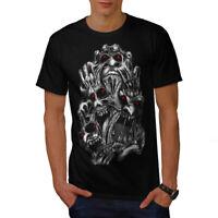 Wellcoda Evil Face Satan Horror Mens T-shirt,  Graphic Design Printed Tee