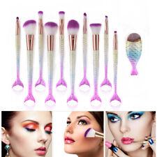 11Pcs Luxury Mermaid Makeup Brushes Kits Coemctic Powder Foundation Brushes Usa 00004000