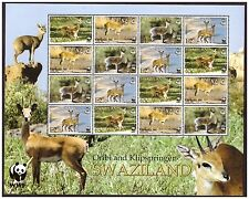 SWAZILAND 2001 WWF ENDANGERED ANTELOPE SPECIES SHEET OF 4 SETS SG704 TO 707