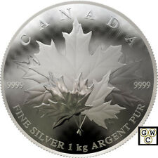 2018Kilo 'Maple Leaf Forever' Convex-Shaped $250 Silver Coin 1kg .9999Fine(18522