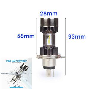 Bulb-H4LED H4 LED Headlight Bulb-Airhead,F,G,K,Oil,Hex,Scooter; 63121354619