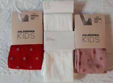 NUOVO Bianco Puro Collant Ragazze Disponibile Da 2-4 Anni A 10-12 Anni
