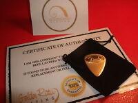 24ct Gold Plated Music Rock Fender Guitar Pick/Plectrum Thin Gauge + Gift Ba