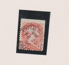 Canada. ONTARIO postmarks 3c SQ son DRESDEN purple 1894