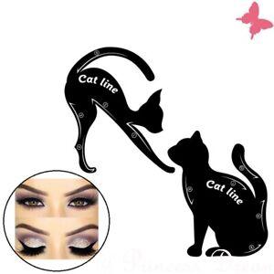 Cat Eyeliner Schablone Lidschattenhelfer zauberhafte Cat Smokey Eyes Lidschatten