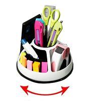 Multi 360 degree Rotation Stationery Holder, Office Desk Accessories Organizer