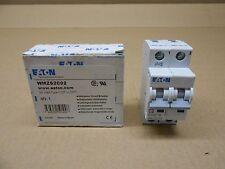 1 Nib Eaton Wmzs2C02 Circuit Breaker 2A 2 Amp 2P 2 Pole Type C