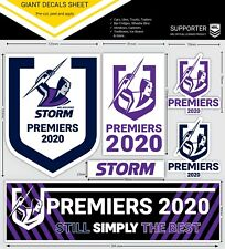 Melbourne Storm NRL GIANT Decal Sticker Sheet 2020 Premiers Premiership Gift