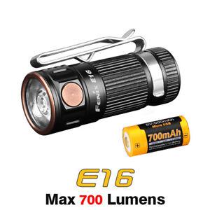 Fenix E16 XP-L HI Neutral White LED Compact EDC Flashlight Torch+USB Battery