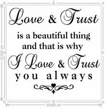 Adesivo Vinile 20x20cm BOX CORNICE LOVE & la fiducia è una bella cosa LOVE preventivo