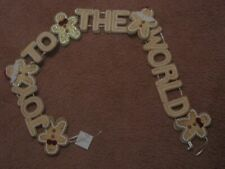 Joy To The World Garland With Gingerbread Boys and Girls - New
