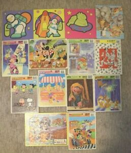 Lot Of 14 Vintage Frame Tray Puzzles Jaymar Disney McCue Dalmations Peanuts MORE