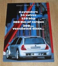 Renault Sport Clio Sport V6 Preview Brochure Poster 1998