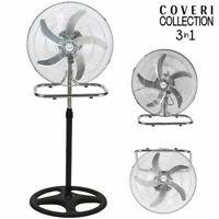 Ventilatore 3 in 1 50W Piantana Da tavolo Parete 3 Velocita Oscillazione Pale 50