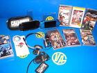 console sony PSP -due Console + 8 giochi + auricolari e carte di 4 e 2 gb