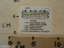 STICKER,DECAL RADIO HOLLAND FM 97,6 OP DE KABEL