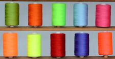 HQG Spun Polyester Threads (10 Mix Of Flu & Sparkling Colours)*High Quality*