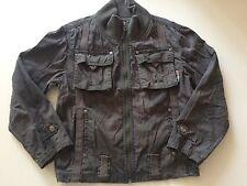 EAGER BEAVER leichte Sommer Jacke schwarz grau Taschen Details C@@L Gr. 128 TOP