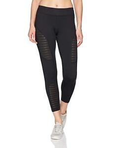 Reebok Dance Mesh Leggings Sizes S-XL Black RRP £40 BNWT B84050
