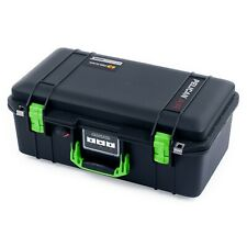Black & Lime Green Pelican 1506 air case with foam.