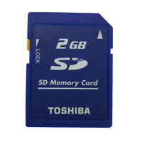 2GB Genuine Camera Standard SD Memory Class4 SD-M02G Secure Digital Toshiba Card