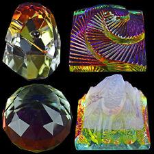 VETRO CRISTALLO grammatura Colore Piramide Ornamento FERMACARTE Set Regalo NUOVA PALLA