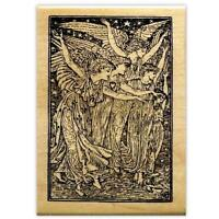 The Angels mounted rubber stamp religious Christmas, holiday, heavenly host, #13