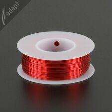 Magnet Wire, Enameled Copper, Red, 22 AWG (gauge), HPN, 155C, ~1/4 lb, 125 ft