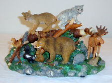 MUSICAL BORN FREE WESTLAND FIGURINE BEAR RABBIT WILD ANIMALS MOOSE