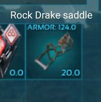 Ark Survival Evolved PVE Xbox One Precrafted Rock Drake Saddle 124 armor