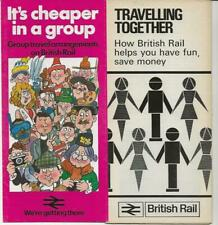 Two British Rail group travel brochures 1970+1985 AM10 Class 310 EMU