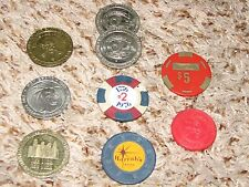 Lot Of 9 Gaming Tokens
