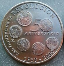 50th Anniversary of the Revolution 1959-2009 50 years 1 Peso  Copper