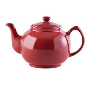 Price & Kensington Red Glazed Stoneware 10 Cup Teapot 1500ml - 53oz
