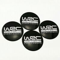 56mm WRC World Rally Championship Car Wheel Center Hub Caps Badges Decal Sticker