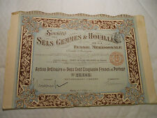 1911 EMPIRE RUSSE SELS GEMMES HOUILLES @ SUP DECO @ RUSSIE