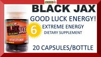 6 BLACK JAX BY STACKER2 2 GOOD LUCK EXTREME ENERGY 20 CAPSULES (6 BOTTLES) = 120