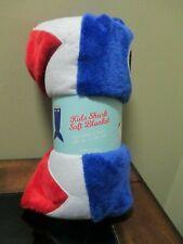 """Kids Shark Soft Blanket 22' x 54"""" Red White & Blue 100% Polyester New"""