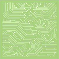 Kaisercraft TEMPLATE / STENCIL 6x6 Designer Template - LINEAR LINES Men Circuit