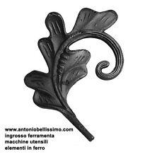 foglia ornamento in ferro battuto per ringhiere inferriate art. 663/1