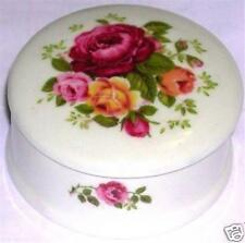 PLATE DISH ENGLAND STAFFORDSHIRE FLORAL COVERED LID NEW