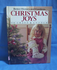 Vintage 1985 Better Homes and Gardens CHRISTMAS JOYS Cross Stitch and Crafts
