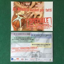 (6609) 1 Cartolina BASKET OLIMPIA MILANO ABBONAMENTI card advertising