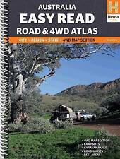 Australia Easy Read Road and 4WD Atlas A3 Spiral: HEMA.A.041SP: 2015 by Hema Maps Pty.Ltd (Sheet map, 2015)