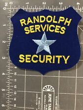 Vintage Randolph Security Services Patch Systems Greensboro NC North Carolina RS